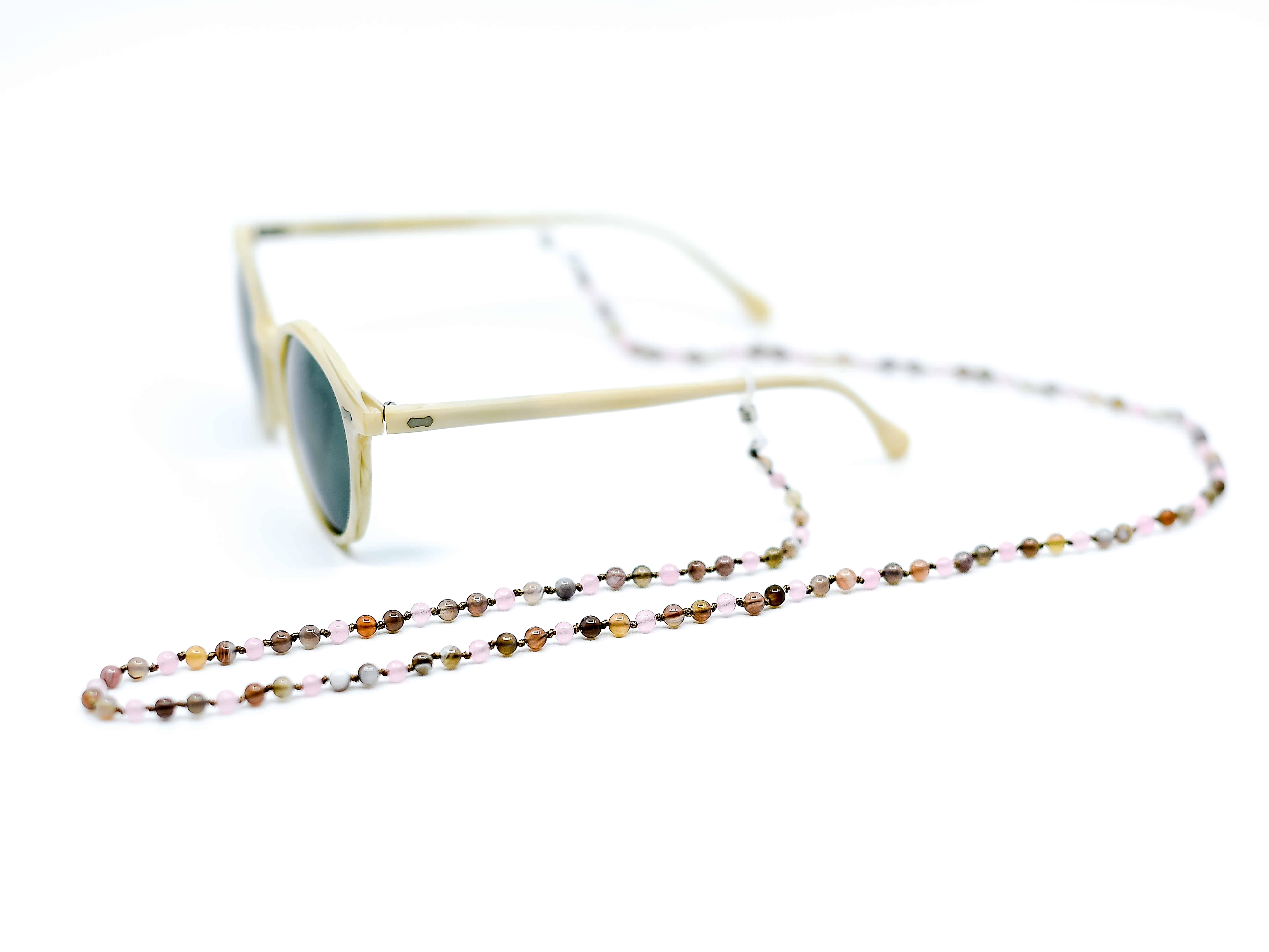 Sonnenbrille Kette mit hellen Farben