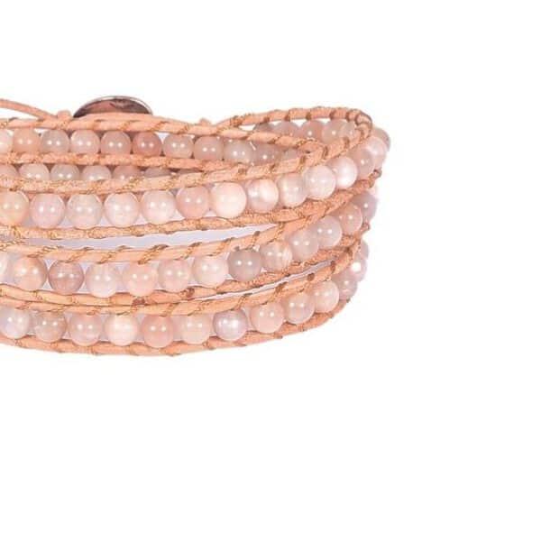 Mehrreihiges Armband rosa