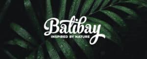 Balibay Logo auf Naturhindergrund