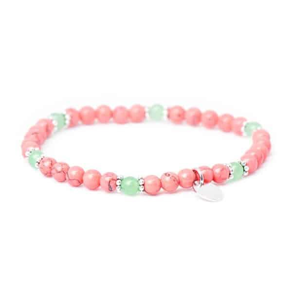 Armband mit pinken Edelsteinen