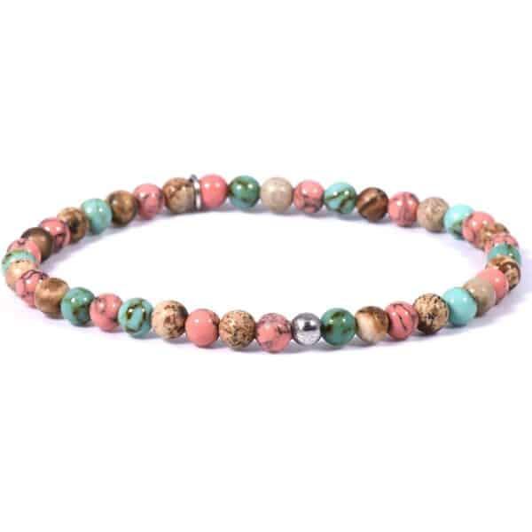 Armband mit farbenfrohen Edelsteinen