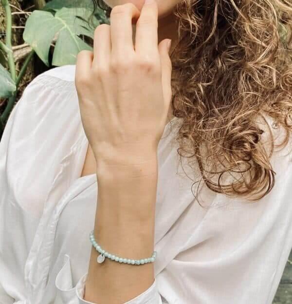 Armgelenk Armband hellblau