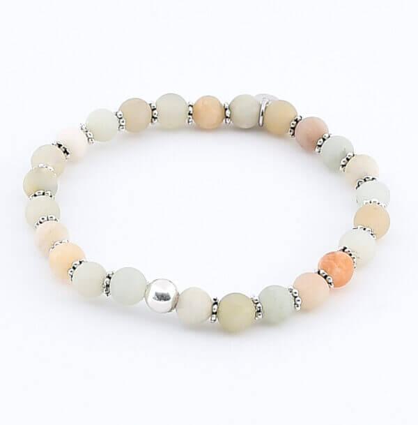 Damen Armband mit Amazonit Steinen und Silber