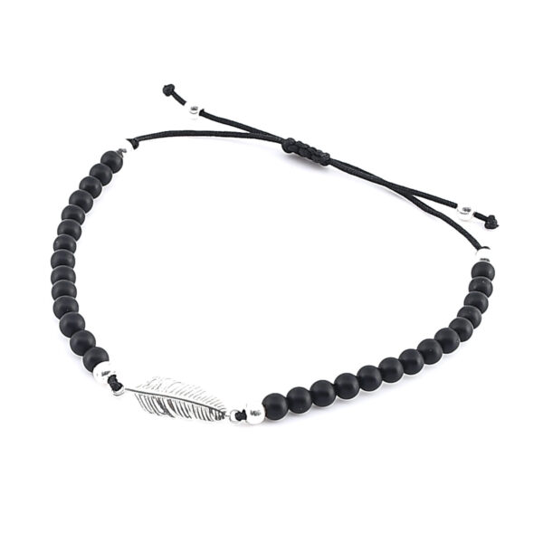 Damen Armband mit Feder in Silber
