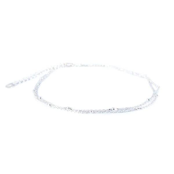 Damen Fusskette in 925 Sterling Silber