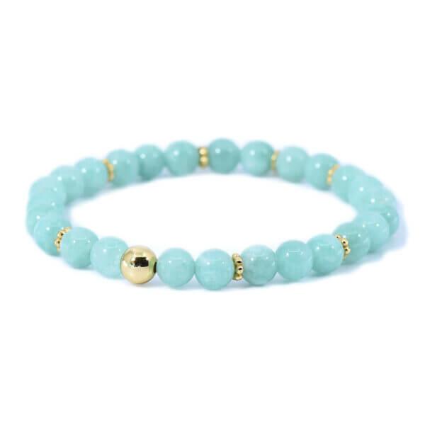 Damen Armband mit Jadeit Steinen handverlesen und 925 Sterling Silber 18K vergoldet. Ein zeitloses Armband in seiner natürlichen Schönheit